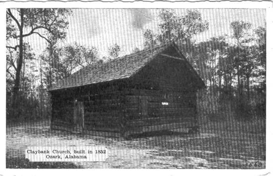 claybank church buitl 1852 Ozark, Dale County, Alabama