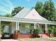 "The south is known for front porches, but Brantley, Alabama has been dubbed ""the front porch capital of the south"""