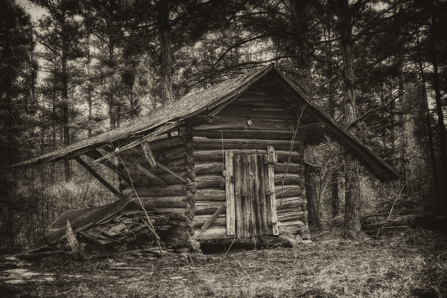 Log Home In The Woods ~ West alabama in was a very different place as this