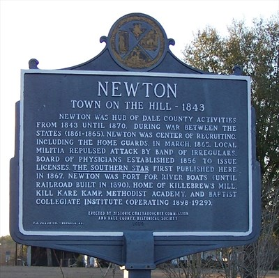 newton historic marker