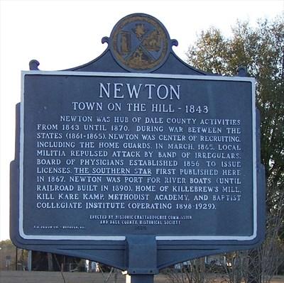 newton historic marker