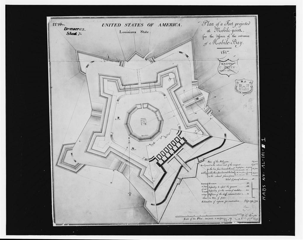 plan of Fort Morgan