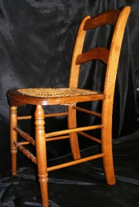 straight back chair