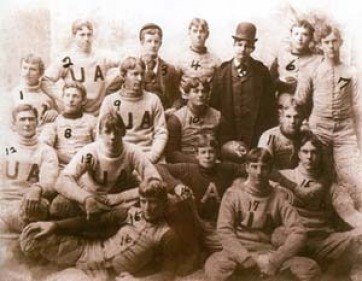 The University of Alabama football team was represented by the Alabama cadets in 1892 [vintage pictures]