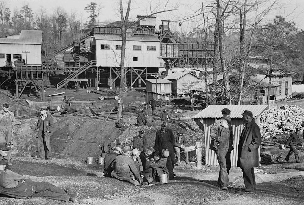 Alabama coal miners, Bankhead Mines, Walker County, Alabama4 by Arthur Rothstein 1937