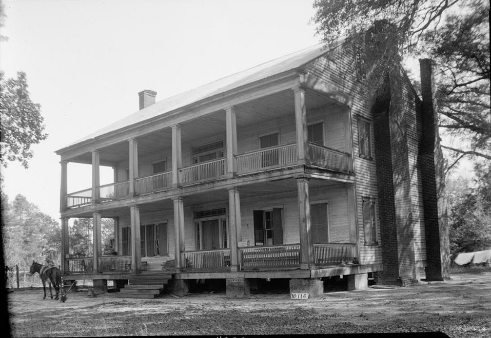 Atkinson-Till House, State Highway 59, Tensaw, Baldwin County, AL by photographer W. N. Manning 1939
