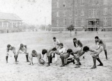 Auburn football was started by Dr. George Petrie [see his bicycle built for two in this vintage film]