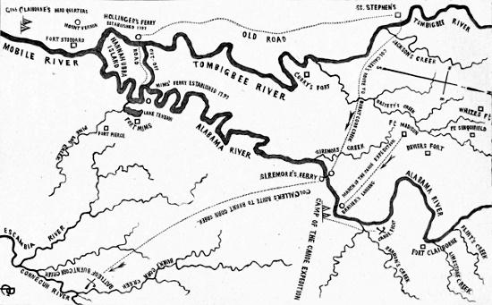 Battle of burnt corn map