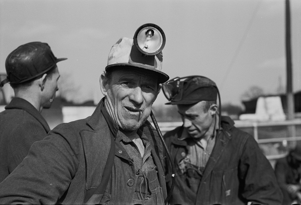 The faces in these 1937 photographs of Coal Miners in and around Birmingham, Alabama reflect the difficulty of their job