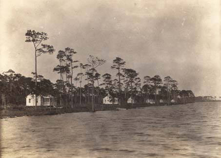 Cottages_along_the_shoreline_at_Gulf_State_Park_in_Fairhope_Alabama