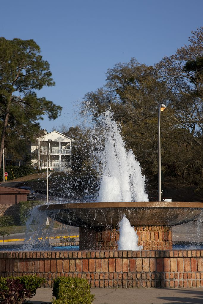 Fountain in Fairhope, Alabama