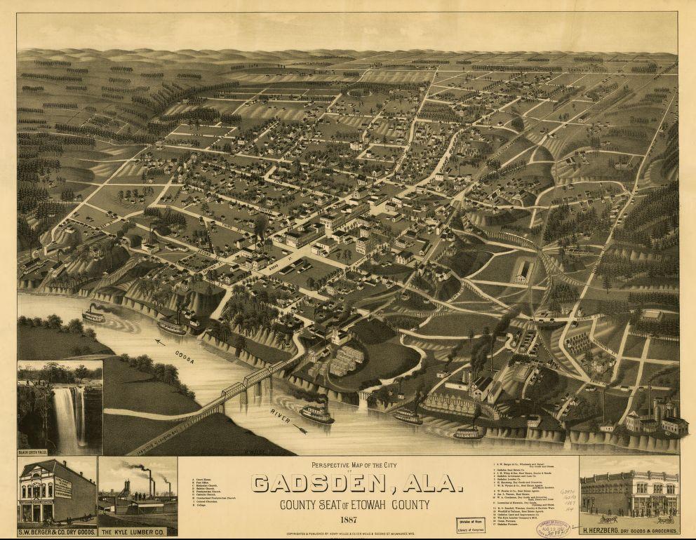 Gadsden map 1887
