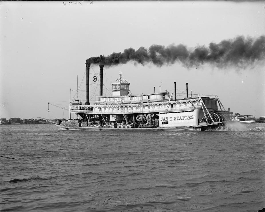River packet Jas. T. Staples, Mobile, Alabama - ca. 1906 - Detroit Publishing