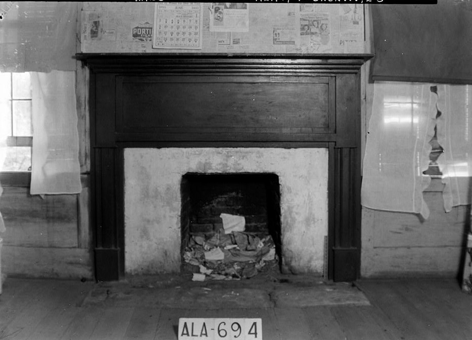 Tavern & Stage Inn, County Road 58, Greenville, Butler County, AL Fireplace 1st floor