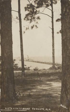 Vista View of Wharf, Fairhope, Ala