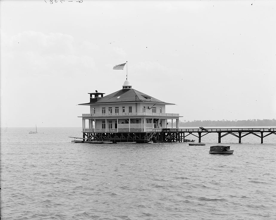 Yacht Club, Monroe Park, Mobile, Alabama - ca. 1900 - Detroit Publishing Company