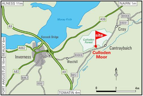 culloden moor map