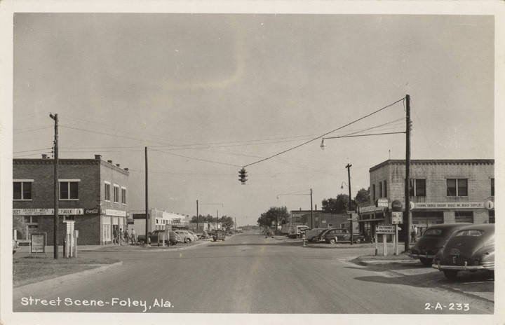 street scene of Foley ca. 1935