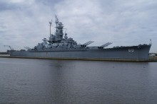 See original [film, photographs & speech] of the USS Alabama being launched