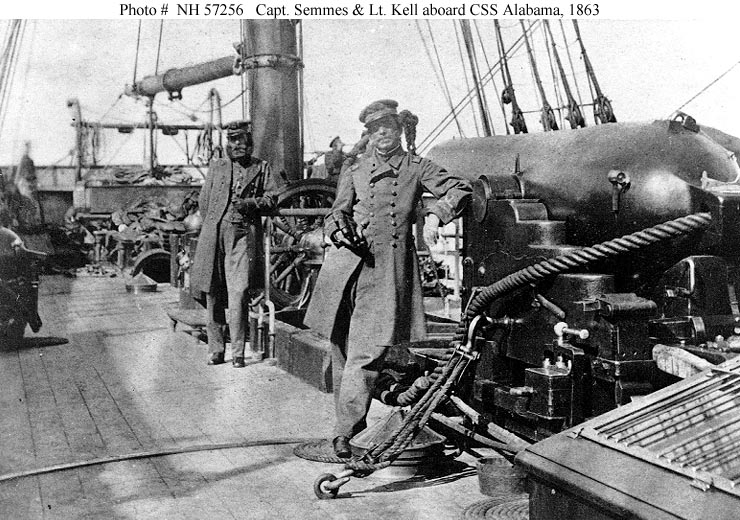 Capt. Semmes and mell on CSS Alabama