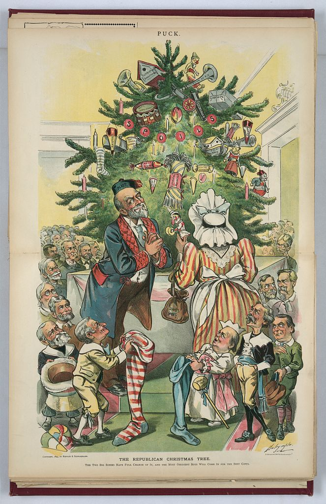 Christmas - Republican Tree 1895 library of congress