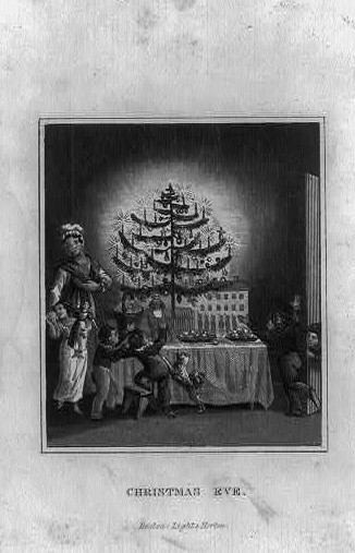 Old Christmas tree prints] and historic facts about Christmas ...