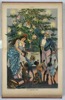MONDAY MUSINGS: [Old Christmas tree prints] and historic facts about Christmas celebrations