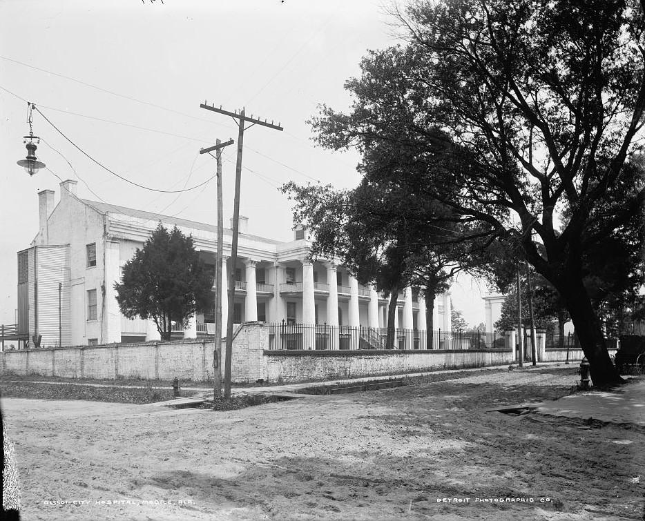 City Hospital, Mobile, Alabama - ca. 1909 - Detroit Publishing Company