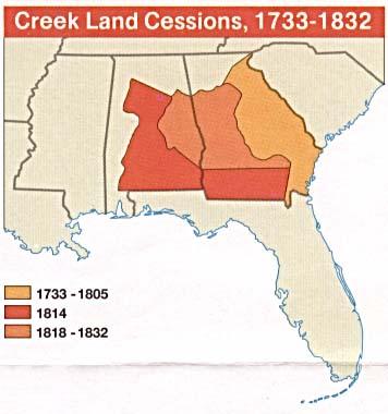 Creek land cessions