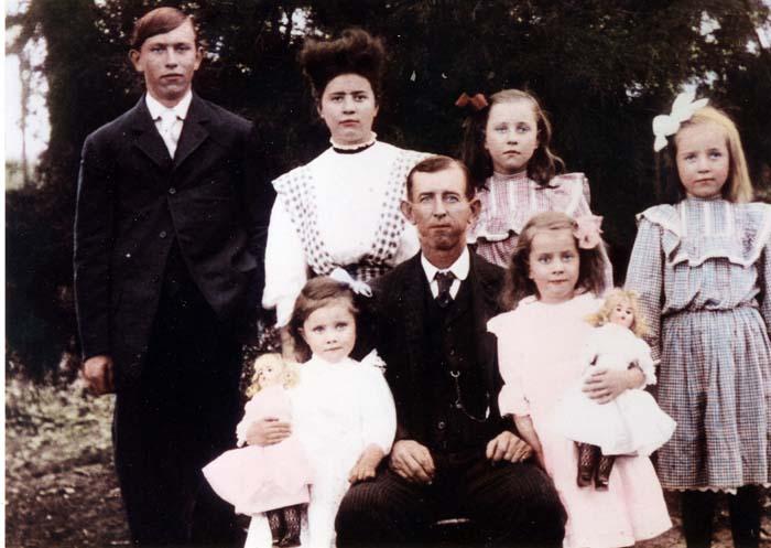 Ella Elizabeth Splawn's children with husband Allen Brazell Pratt