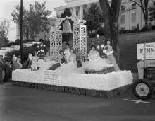 Alabama was the first state to recognize Christmas as an official holiday [see parade pictures from the 1950s in Alabama]