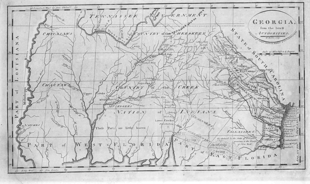 Georgia map before 1802