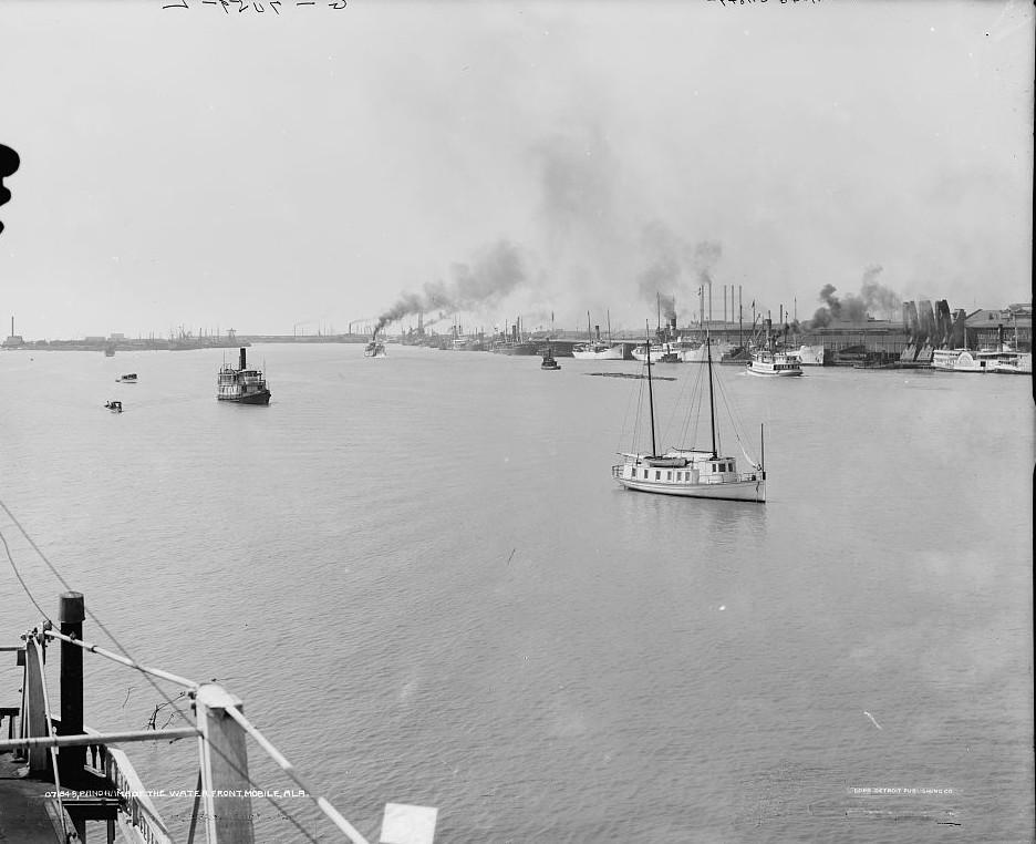 Waterfront, Mobile, Alabama3 ca. 1900 -Detroit Publishing Company