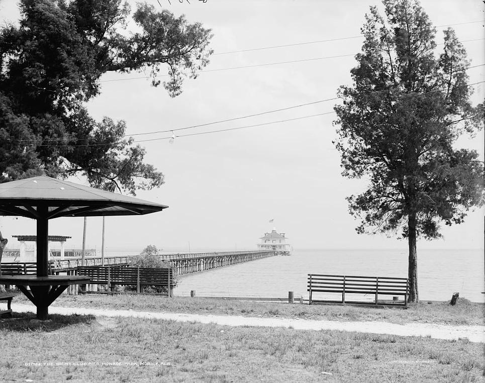 Yacht Club Pier, Monroe Park, Mobile, Alabama - ca. 1900 - Detroit Publishing Company