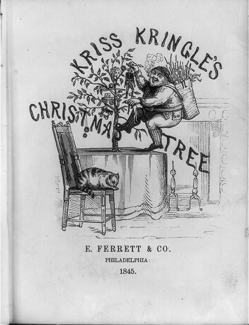 kris kringles Christmas Tree 1845 from Library of Congress