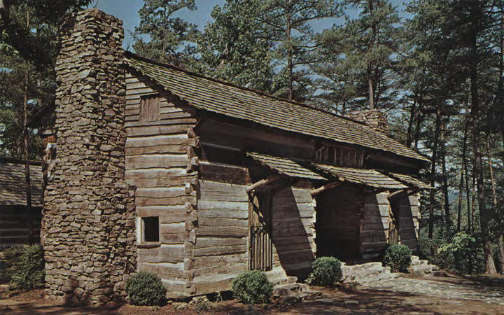 This home was taken from its original site, near Lawrenceburg, Tennessee. Built by Tennessee pioneers around 1777, this building portrays the early mountain settlers way of life. Open all year