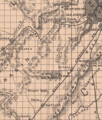 1888 Showing Old Jonesboro