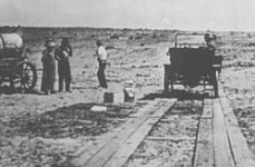 Can you imagine traveling on plank roads like this between cities in Alabama?