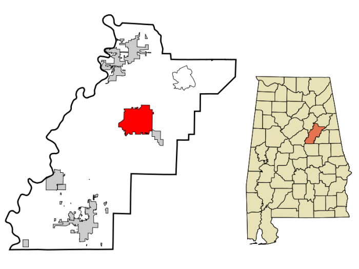 800px-Talladega_County_Alabama_Incorporated_and_Unincorporated_areas_Talladega_Highlighted