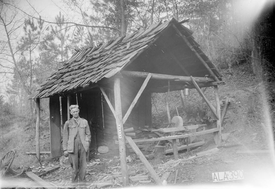 Alex Bush, Photographer, April 4, 1936 VIEW OF SHOP TOWARDS N. W. - McCaleb-Hollingsworth Mill, Mill Creek, Fayette, Fayette County, AL