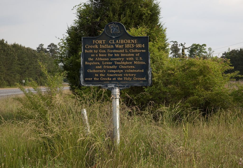 Fort Claiborne sign (Carol Highsmith 2010 Library of Congress)