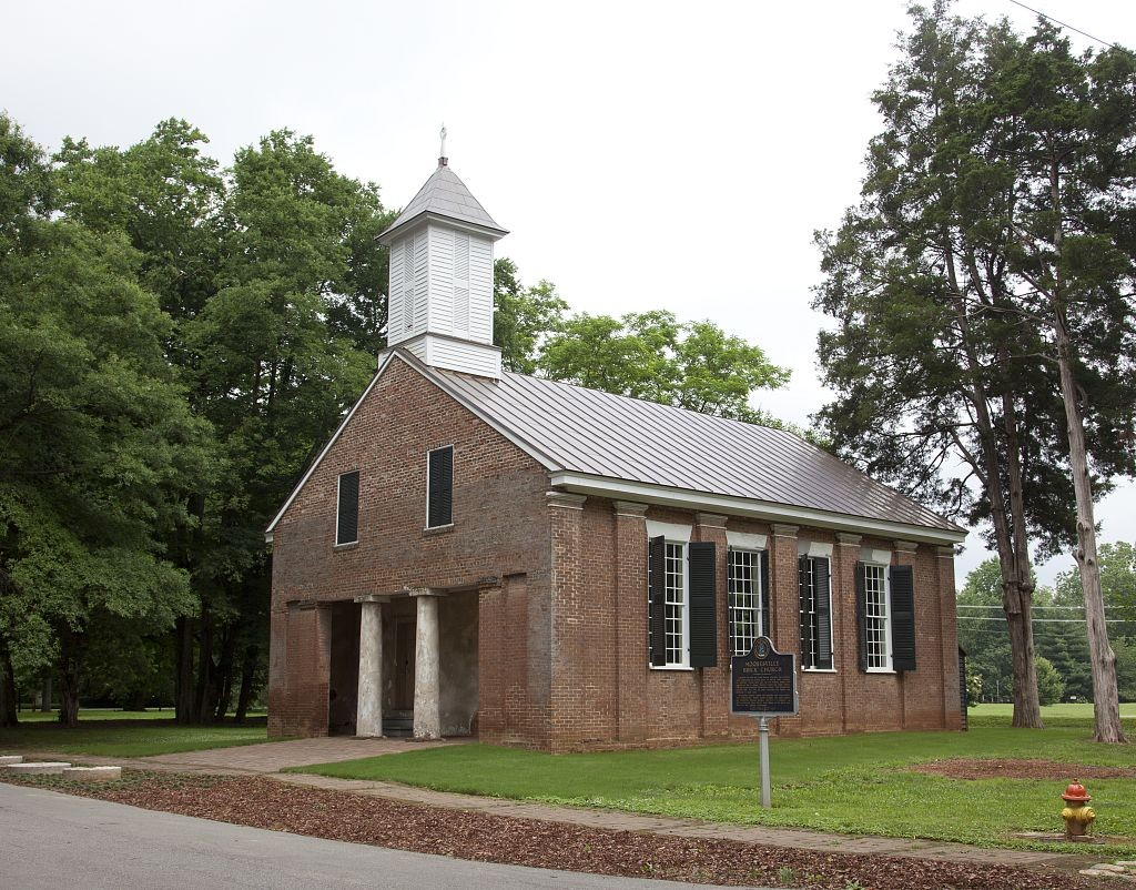 Old Brick Church built in 1839 on Lauderdale Street, Mooresville, Alabama by Carol Highsmith 2010