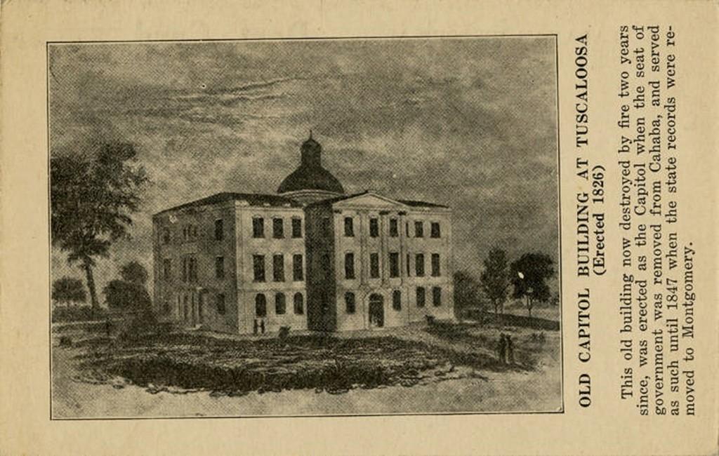 Picture of Old Capitol Building at Tuscaloosa (Erected 1826) – ca. 1840-1849 Q67306 (ADAH)