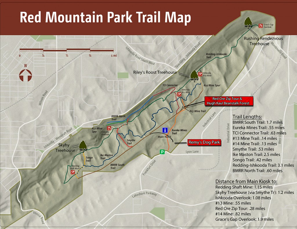 Red mountain park trail