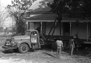 On December 20th in 1978, a historic house was moved in Dothan, Alabama - [see this film of it being moved]