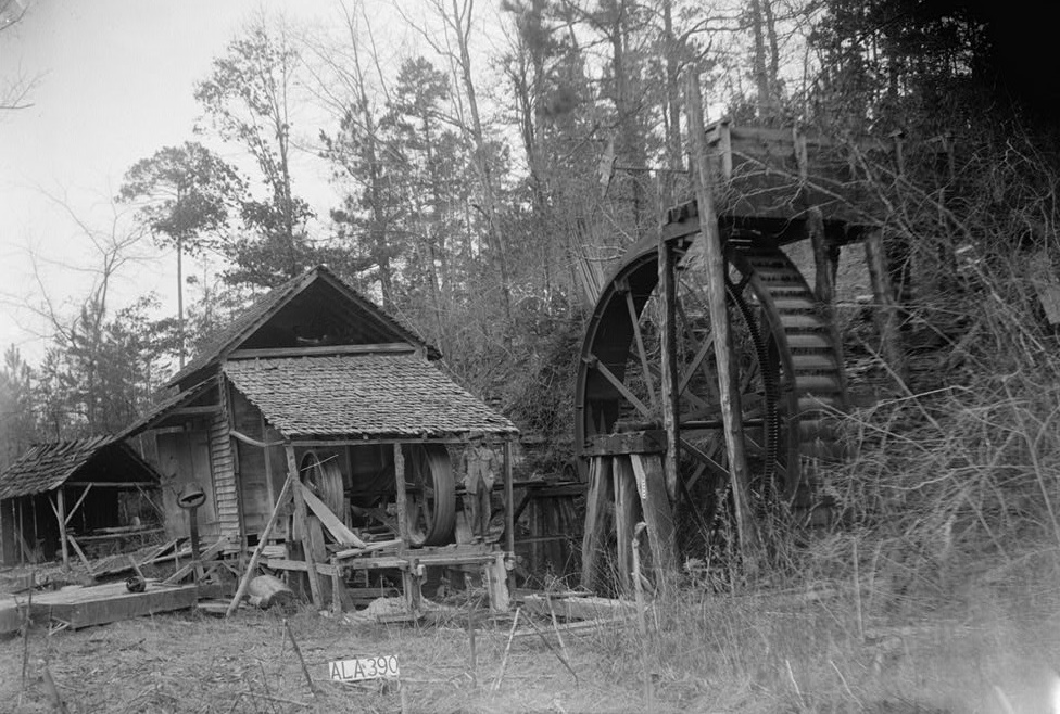 Alex Bush, Photographer, April 4, 1936 EAST ELEVATION (FRONT) - McCaleb-Hollingsworth Mill, Mill Creek, Fayette, Fayette County, AL