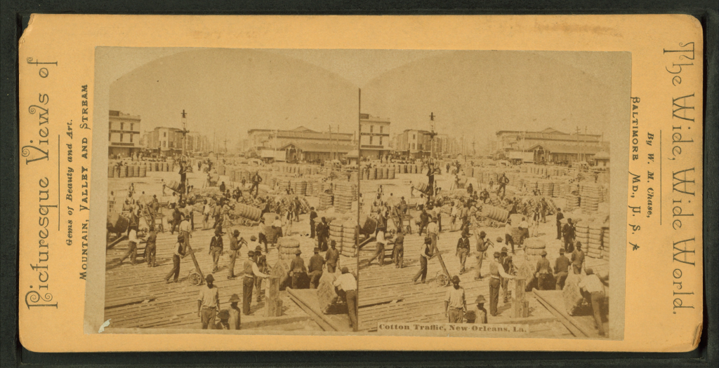 Cotton_traffic,_New_Orleans,_La,_by_Chase,_W._M.,_1818_or_19-1905
