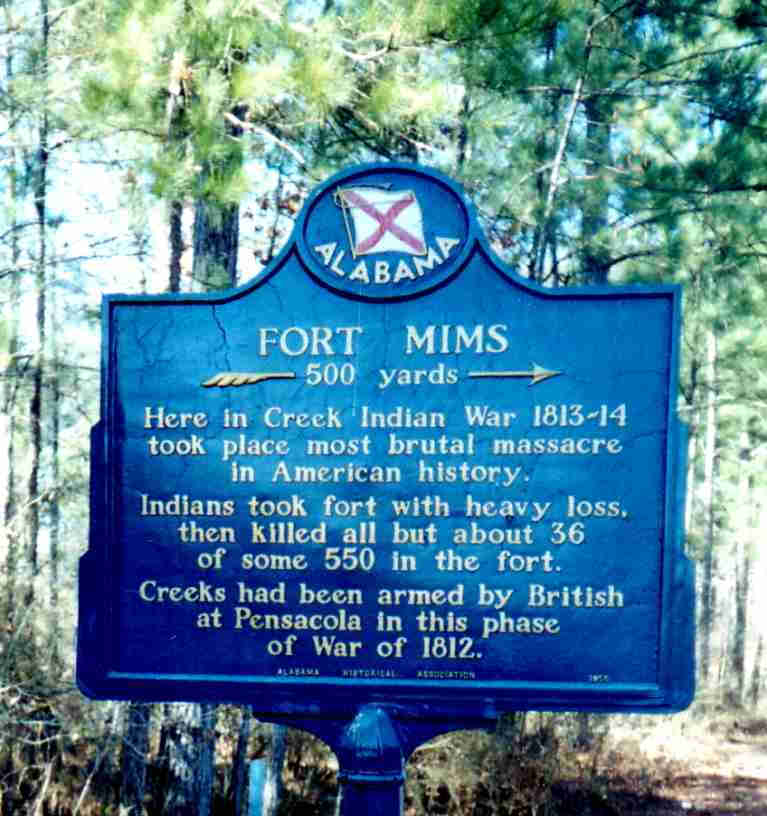Fort Mims marker