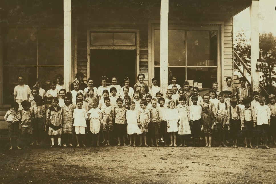 Group of children attending the mill school at Barker Cotton Mills Mobile Alabama October 1914 Lewis Wickes Hine