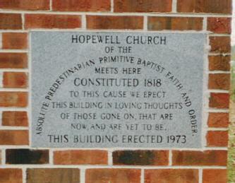 Hopewell Primitive Baptist